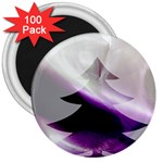Purple Christmas Tree 3  Magnets (100 pack) Front
