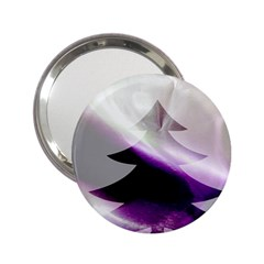 Purple Christmas Tree 2.25  Handbag Mirrors