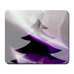 Purple Christmas Tree Large Mousepads