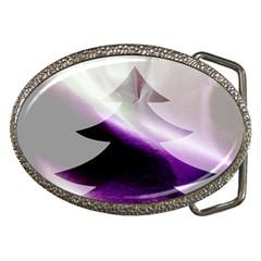 Purple Christmas Tree Belt Buckles