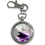 Purple Christmas Tree Key Chain Watches Front