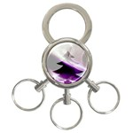 Purple Christmas Tree 3-Ring Key Chains Front