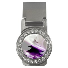 Purple Christmas Tree Money Clips (CZ)