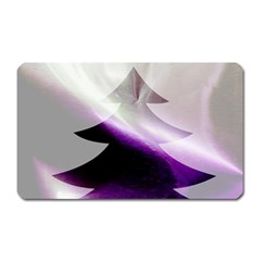 Purple Christmas Tree Magnet (Rectangular)