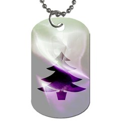 Purple Christmas Tree Dog Tag (One Side)