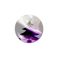 Purple Christmas Tree Golf Ball Marker
