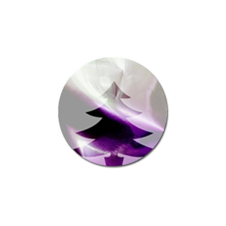 Purple Christmas Tree Golf Ball Marker (4 pack)