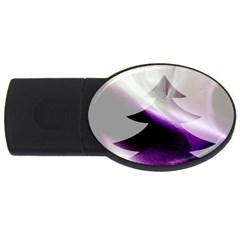 Purple Christmas Tree USB Flash Drive Oval (1 GB)