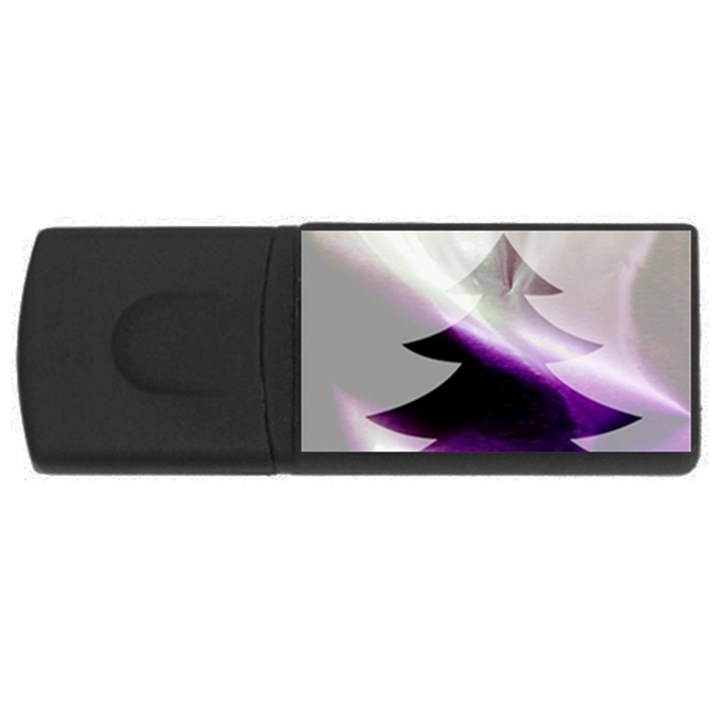 Purple Christmas Tree USB Flash Drive Rectangular (2 GB)