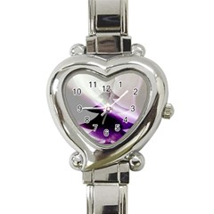 Purple Christmas Tree Heart Italian Charm Watch