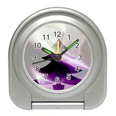 Purple Christmas Tree Travel Alarm Clocks