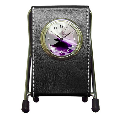 Purple Christmas Tree Pen Holder Desk Clocks