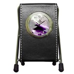 Purple Christmas Tree Pen Holder Desk Clocks Front