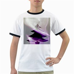 Purple Christmas Tree Ringer T-Shirts