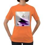 Purple Christmas Tree Women s Dark T-Shirt Front