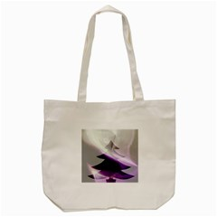 Purple Christmas Tree Tote Bag (Cream)