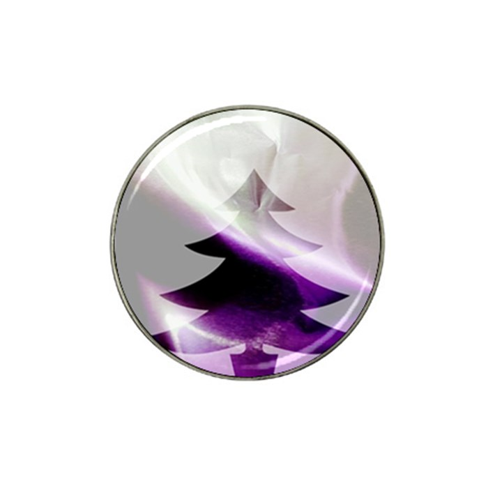 Purple Christmas Tree Hat Clip Ball Marker