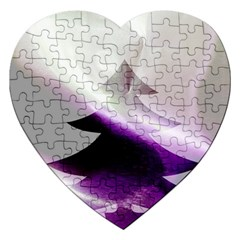 Purple Christmas Tree Jigsaw Puzzle (Heart)