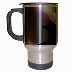 Purple Christmas Tree Travel Mug (Silver Gray) Left
