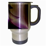 Purple Christmas Tree Travel Mug (Silver Gray) Right