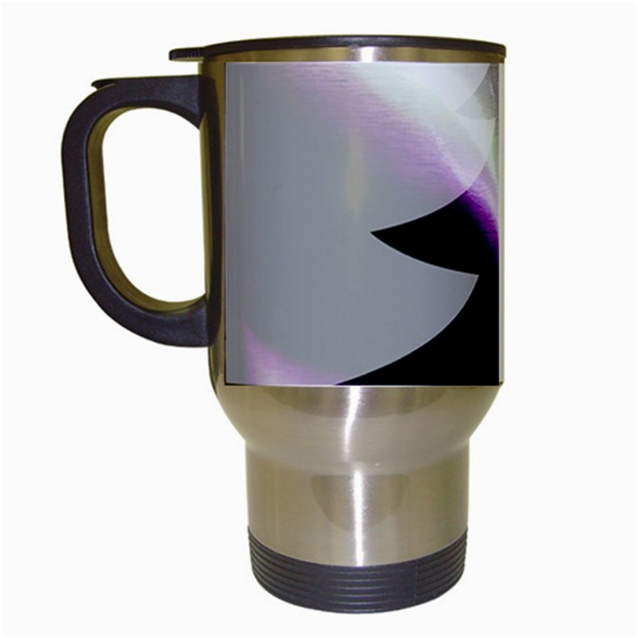 Purple Christmas Tree Travel Mugs (White)