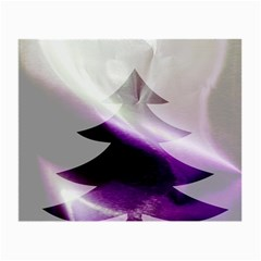 Purple Christmas Tree Small Glasses Cloth