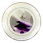Purple Christmas Tree Porcelain Plates Front