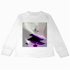 Purple Christmas Tree Kids Long Sleeve T-Shirts