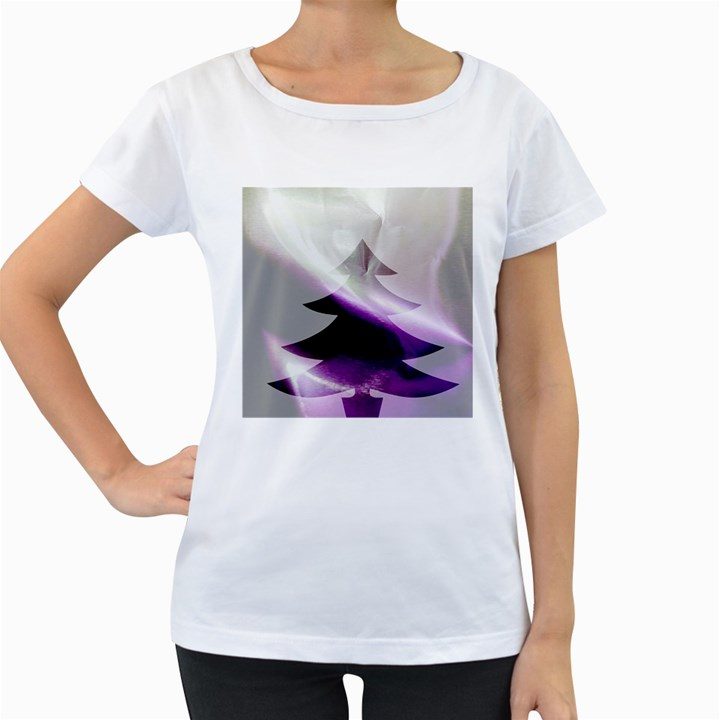 Purple Christmas Tree Women s Loose-Fit T-Shirt (White)