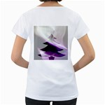 Purple Christmas Tree Women s Loose-Fit T-Shirt (White) Back