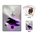 Purple Christmas Tree Playing Card Back