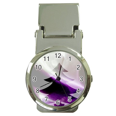 Purple Christmas Tree Money Clip Watches