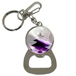 Purple Christmas Tree Bottle Opener Key Chains Front