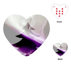 Purple Christmas Tree Playing Cards (heart)