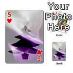 Purple Christmas Tree Playing Cards 54 Designs  Front - Heart5