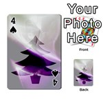 Purple Christmas Tree Playing Cards 54 Designs  Front - Spade4