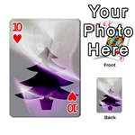 Purple Christmas Tree Playing Cards 54 Designs  Front - Heart10