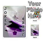 Purple Christmas Tree Playing Cards 54 Designs  Front - Joker1