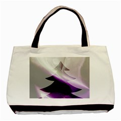 Purple Christmas Tree Basic Tote Bag