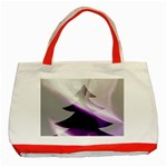 Purple Christmas Tree Classic Tote Bag (Red) Front