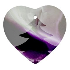 Purple Christmas Tree Heart Ornament (2 Sides)