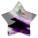 Purple Christmas Tree Star Ornament (Two Sides)  Front