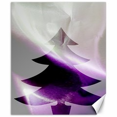 Purple Christmas Tree Canvas 8  X 10