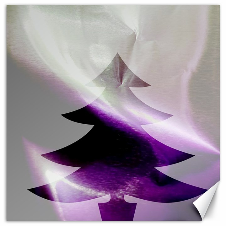 Purple Christmas Tree Canvas 12  x 12