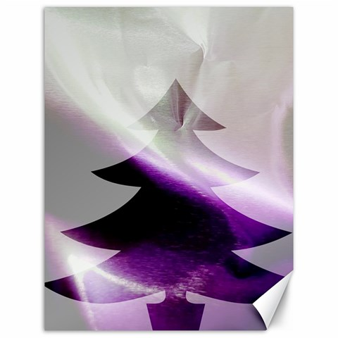 Purple Christmas Tree Canvas 12  x 16