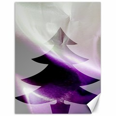 Purple Christmas Tree Canvas 18  x 24