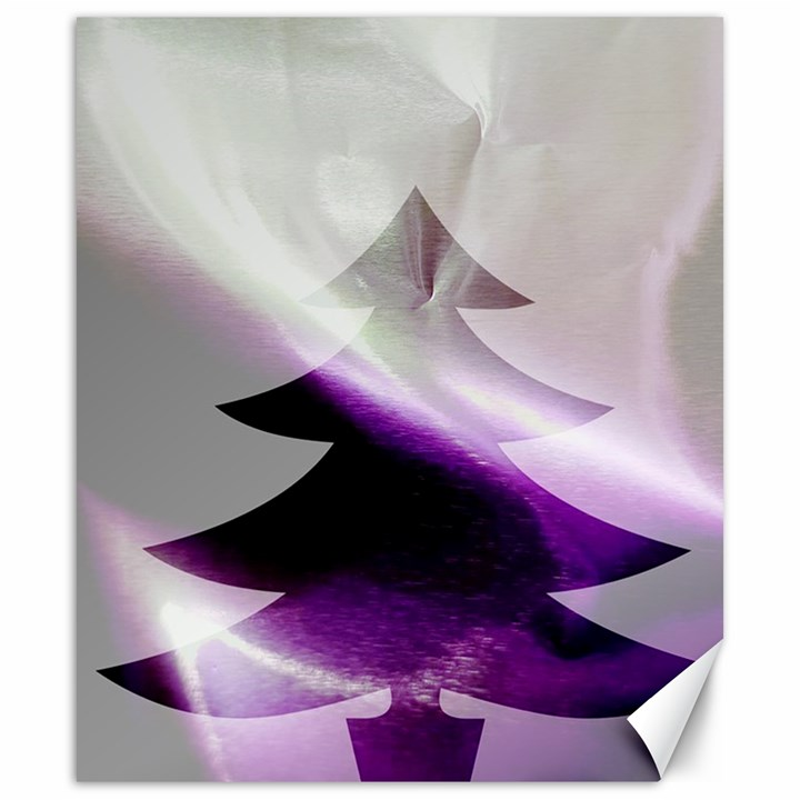Purple Christmas Tree Canvas 20  x 24