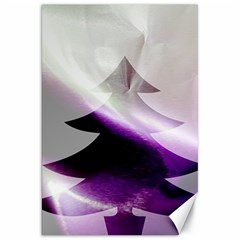 Purple Christmas Tree Canvas 20  X 30
