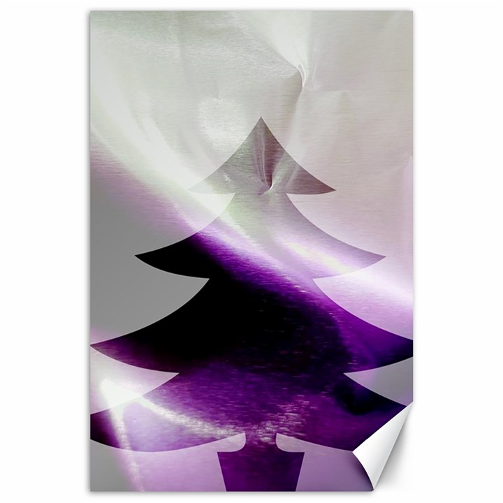 Purple Christmas Tree Canvas 24  x 36