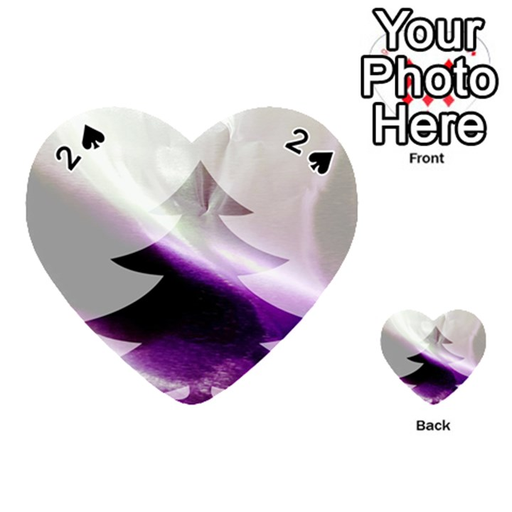 Purple Christmas Tree Playing Cards 54 (Heart)